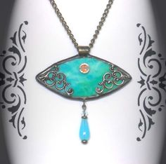 Stained glass pendant (Loved this, very pretty, delicate, romantic and old-fashioned looking.)