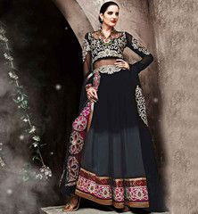 ZOYA SAPPHIRE DESIGNER WEDDING ANARKALI DRESS TROUSER TYPE SALWAR PFSAP11002