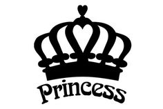 Princess Crown Die Cut Vinyl Decal for Windows, Vehicle Windows, Vehicle Body Surfaces or just about any surface that is smooth and clean Silhouette Projects, Silhouette Design, Crown Silhouette, Princess Silhouette, Silhouette Cutter, Cricut Vinyl, Vinyl Decals, Car Decals, Crown Stencil
