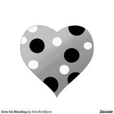 Dots On Blending Heart Sticker