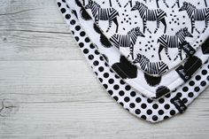 Monochrome Love Bandana Bib Set - Levi & Evelyn