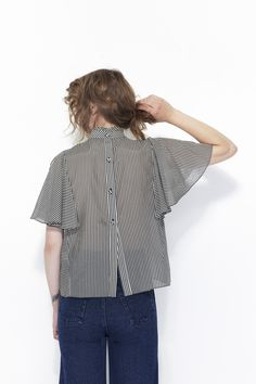 WHIT, Boheme Top, Charcoal |  CONTENT| 70 Cotton/ 30 Silk  Made in New York $298