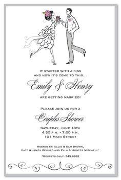 Couples Shower Invitations, Vintage Couple