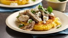 Looking for a classic dinner that's ready in 20 minutes? Then check out these pork Arepas featuring Betty Crocker® cornbread & muffin mix and Green Giant® SteamCrisp® Niblets® corn.
