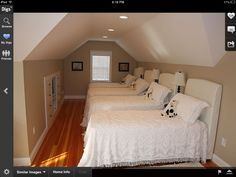 This is another attic place I like. Great bunk room.