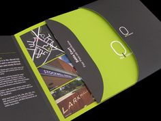Die cut brochure with pocket & insert