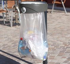 The Orbis™ sack holder is a specifically designed sack holder for transport, airport and sporting arenas. The clear sack enables high visibility for when the need for security is high. Orbis, Trash Bins, Water Bottle, Indoor, Mugs, Community, Cleaning, Design, Collection