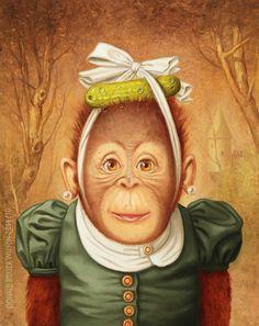Monkey 2, Decopage, Wilson Art, Roller, Unusual Animals, Fancy Pants, Love Art, Art Forms, Funny Animals