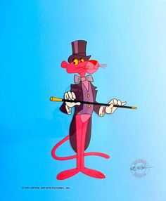 PINK PANTHER TOP HAT AND COAT TAILS Animation Sericel