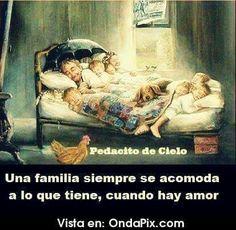 Una familia se acomoda