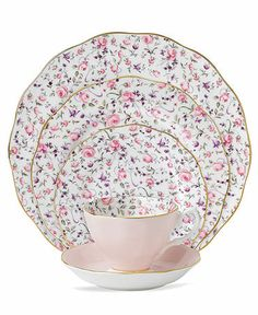 Elegant China Dinnerware | Royal Albert Dinnerware, Rose Confetti Collection
