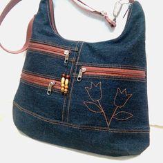 Soksebes tulipános farmer  pakolós női táska (ancsumancs) - Meska.hu Farmer, Ted, Bags, Nova, Fashion, Tailgate Desserts, Handbags, Moda, Fashion Styles