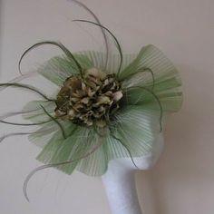 Olive Fascinator Hat