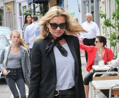 Kate Moss Marries Brit Pop with Parisian Flair