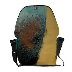 Ceramic Pixels Abstract Courier Bag