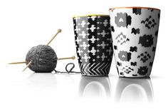 Nordic Wool Thermo Mugs by Menu    Orange and Yellow