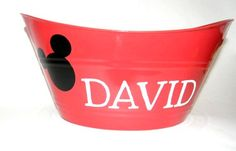 Personalized Mickey Mouse Inspired Red by anniescraftcorner, $8.00
