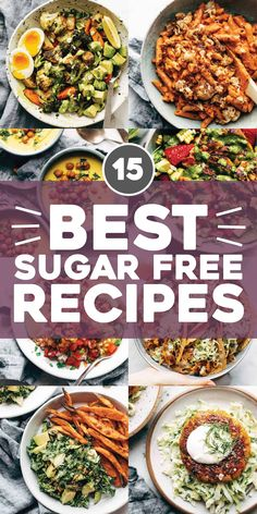 15 of Our Best Sugar Free Recipes! Recipes that prove eating sugar free can be flavorful delicious and satisfying. Sugar Free Recipes, Ww Recipes, Cooking Recipes, Healthy Recipes, Shrimp Recipes, Diabetic Recipes, Recipies, Crispy Sweet Potato, Sweet Potato Soup