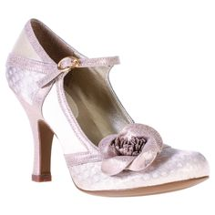 Ruby Shoo Belle Rose & Gold Vintage Style Shoes Size 4,5,6,7,8 (New for 2015)