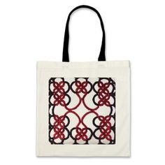Medieval Black And Red Tatted Lace Bag by TataniaRosa