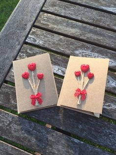 Mini Heart notelet cards by AdventuresOfHope on Etsy