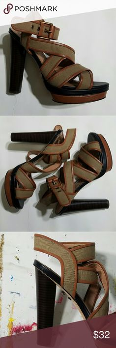 Ann Taylor strappy sandal Like what you see but not the price tag? Make an offer =) feel free to ask any questions   -Used in beautiful condition. Worn once! Ann Taylor Shoes