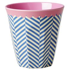 This medium sized melamine cup comes with a two tone sailor stripe design and pink bunting-style detail around the rim of the Pink Bunting, Kitchenware Shop, Melamine, Pink Love, Stripes Design, Stripe Print, Home Gifts, Gifts Uk, Sailor