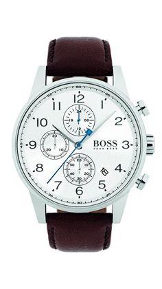 Hugo Boss 1513495 Brown 44mm Stainless Steel Navigator Men's Watch