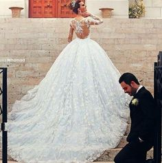 Wedding Robe, Princess Wedding Dresses, Dream Wedding Dresses, Wedding Pics, Bridal Dresses, Wedding Gowns, Lace Wedding, Wedding White, Wedding Ideas