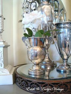 Vintage Silverplate Loving Cup Trophy Cup by edithandevelyn on Etsy