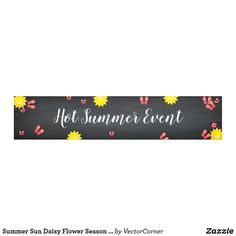 Summer Sun Daisy Flower Season Event Banner