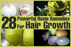 28 Powerful Home Remedies For Hair Growth Onion Juice Apple Cider VInegar Fenugreek POtato Juice Henna Cayenne Coconut Milk Green Tea indian Gooseberry Cumin Seeds Peppercorn Hibiscus Garlic  Vitamin E Coconut Oil ROsemary Oil Sage Oil Lavender Flax