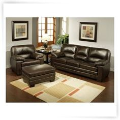 Abbyson Living Montecito Brown Italian Leather Chair and Ottoman Sofa Set Living Room Sets, Leather Sofa Chair, Furniture, Italian Leather Sofa, Chair And Ottoman Set, Abbyson Living, Ottoman Set, Sofa Set, Couch Sofa Set