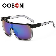 Oobon Sale Real Adult Rectangle Black 2016 Big Sunglasses Brand Designer Men Outdoor Glasses High Quality Driving Coating Sun