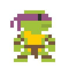 8 bit ninja turtles = stitching patterns