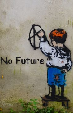 No Future #street art #graffiti