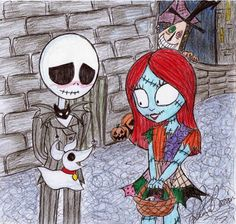 Nightmare Before Christmas Fan Art: Young love Iconic Characters, Disney Characters, Fictional Characters, Jack Y Sally, Emo Pictures, Emo Pics, Dark And Twisted, Cute Eyes, Young Love