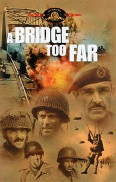 A Bridge Too Far - 1977, directed by Richard Attenborough.  WWII Operation Market Garden in the Netherlands; from the book by Cornelius Ryan.  Sean Connery, Anthony Hopkins, Robert Redford, James Caan, Ryan O'Neil, Gene Hackman, Lawrence Olivier, Liv Ullman.