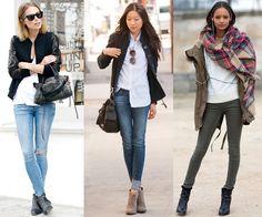 Botas de Cano Curto com Jeans