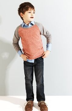 Tucker + Tate Sweatshirt  Jeans  Nordstrom Dress Shirt (Little Boys) | Nordstrom