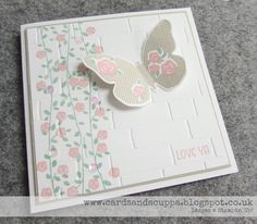 Sarah-Jane Rae cardsandacuppa: Stampin' Up! UK Order Online 24/7: Using Stampin' Up's Floral Wings for my Mothers Day Card