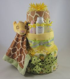 I found this one on Etsy.com. For all those who love a little jungle theme and Disney's Lion King - this is your cake.