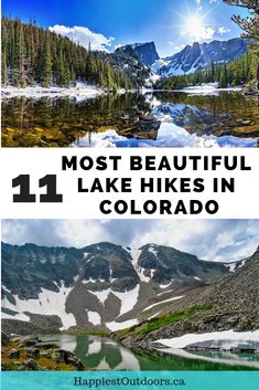 Hike to the most beautiful alpine lakes in Colorado. Includes hikes on both sides of Rocky Mountain National Park, near Aspen and in Colorado's San Juan mountains. Add these gorgeous lakes to your Colorado hiking bucket list! Estes Park Colorado, Aspen Colorado, Durango Colorado, Colorado Lakes, Boulder Colorado, Dream Lake Colorado, Rocky Mountains Colorado, Hiking In Denver Colorado, Denver Colorado Hiking