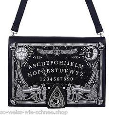 Restyle-Ouija-Buch-Tasche-Moon-Occult-Bag-Witchy-Alchemy-Mond-Zauber-Kunst-Leder