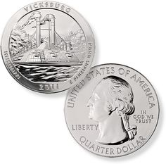 2011 5 Ounce America The Beautiful Vicksburg Coin [5-OZ-ATB-VICKSBURG-2011]: Aydin Coins & Jewelry, Buy Gold Coins, Silver Coins, Silver Bar, Gold Bullion, Silver Bullion - Aydincoins.com