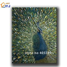 Plate Knife Painted Peacock Wall Art Picture Handpainte  Modern Abstract Oil Painting on Canvas Wall Art Gift Living Room Decora-in Painting & Calligraphy from Home & Garden on Aliexpress.com   Alibaba Group