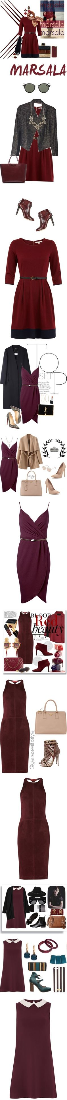 """""""14 Ways to Wear a Burgundy Dress"""" by polyvore-editorial ❤ liked on Polyvore"""