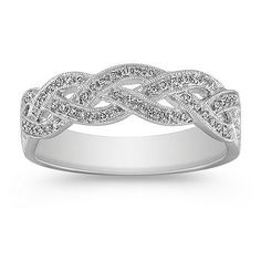 CZ Three Strand Infinity Ring White Gold | Engagement, Sterling ...