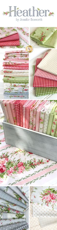 Heather is a beautiful floral collection by Jennifer Bosworth of Shabby Fabrics manufactured by Maywood Studio!