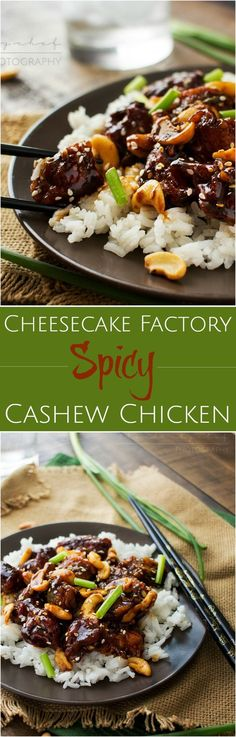 Copycat Spicy Cashew Chicken | The Chunky Chef | This cashew chicken is deliciously spicy and savory and tastes almost exactly like The Cheesecake Factory's recipe. You won't want takeout anymore!